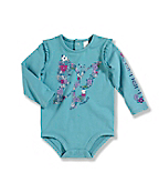 Infant/Toddler Girls' 'Butterfly Flower Fill' Long-Sleeve Bodyshirt