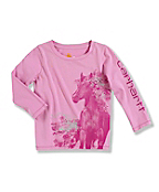 Infant Toddler Girl's �Photo Real Horse� Long-Sleeve T-Shirt