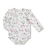 Infant/Toddler Girls' 'Watercolor Horse' Long-Sleeve Bodyshirt