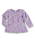 Infant Toddler Girl's Long-Sleeve Bandana Print Baby Doll Top