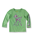 Infant Toddler Girl's ?Flower Fill Deer? Long-Sleeve T-Shirt