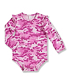 Infant Toddler Girl's Camo Long-Sleeve Bodyshirt
