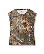 Girls' Short Sleeve Camo Top