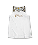 Girls' Sleeveless Camo Piecing Tank