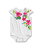 Infant Toddler Girls' Ruffle Sleeve Bodyshirt