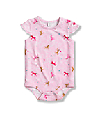 Infant Toddler Girls' Ruffle Sleeve Printed Bodyshirt