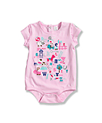 Infant Toddler Girls' Short Sleeve Bodyshirt