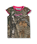 Infant Toddler Girls' Short Sleeve Camo Top
