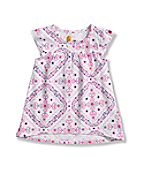 Infant Toddler Girls' Flutter Sleeve Printed Swing Top