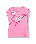 Girls' Big Butterfly Short Sleeve T-Shirt