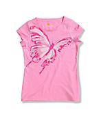 Girls' Big Butterfly Short Sleeve T-Shirt