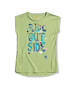 Girls' Ride Outside Cap Sleeve  T-Shirt