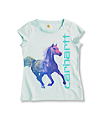 Girls' Rainbow Horse Short Sleeve T-Shirt