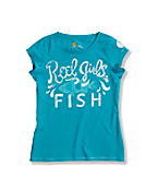 Girls'  Reel Girls Fish Short Sleeve T-Shirt