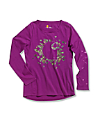 Girls' Realtree® 'C' Long Sleeve T-Shirt