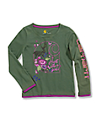 Girls' Long Sleeve Layered T-Shirt