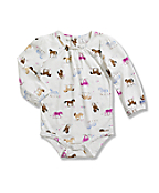 Infant/Toddler Girls' Printed Long Sleeve Bodyshirt