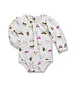 Infant/Toddler Girls' Printed Long Sleeve Bodyshirt