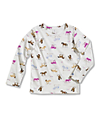 Infant/Toddler Girls' Printed Long Sleeve T-Shirt
