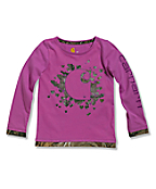 Infant/Toddler Girls' Realtree® 'C' Long Sleeve T-Shirt
