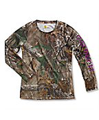 Girls' Carhartt Force® Long Sleeve Camo Top