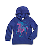 Girls' Brushed Fleece Hooded Sweatshirt