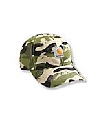 Boys Signature Camo Canvas Cap