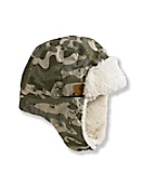 Green Camo Bubba Hat/Sherpa Lined