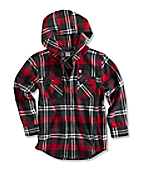 Boy�s Hooded Flannel Shirt