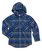 Boy's Hooded Flannel Shirt