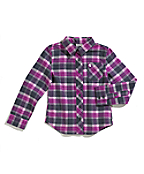 Girls Pretty Plaid Flannel Shirt