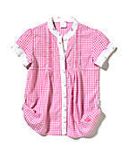 Girls Woven Gingham Top