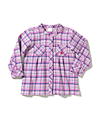 Infant Girl's Flannel Plaid Top