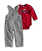 Infant Boy�s Washed Bib Overall Set (2 Piece)