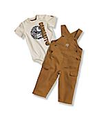 Infant Boys' Washed Canvas Bib Overall Set