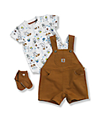 Infant Boys' Carhartt 3 Piece Shortall Set