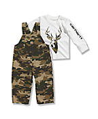 Toddler Washed Ripstop Bib Overall Set