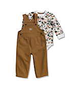 Infant Boys' Canvas Bib Overall Set