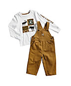 Toddler Boys' Canvas Bib Overall Set
