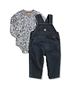 Infant Washed Denim Bib Overall Set