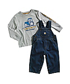 Toddler Washed Denim Bib Overall Set