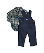 Infant Canvas Bib Overall Set