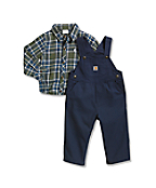 Toddler Canvas Bib Overall Set