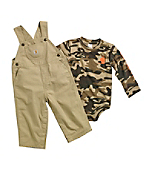 Infant Washed Ripstop Bib Overall Set