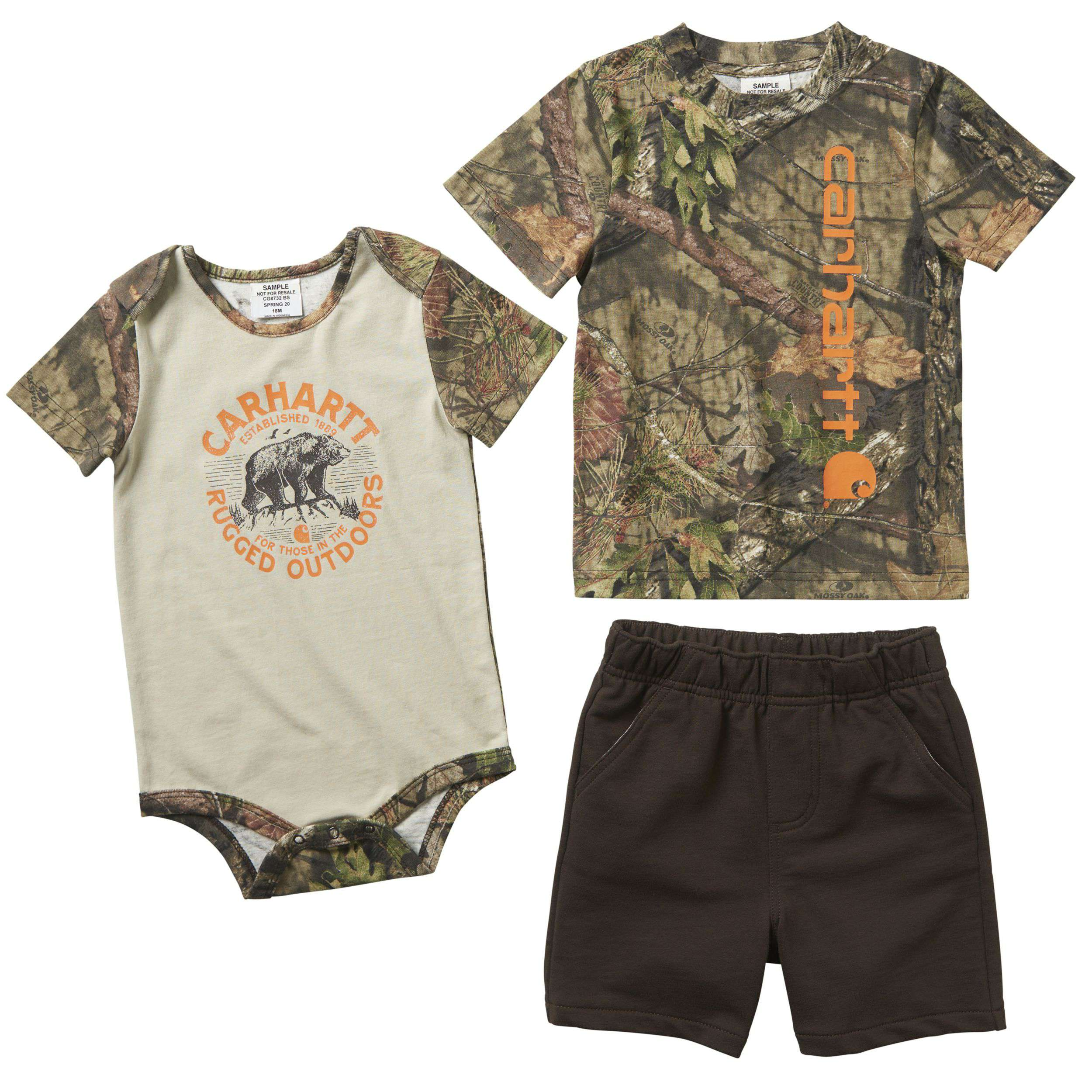 3-Piece Camo Short Gift Set