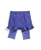 Girls Washed Duck Skirt And Tights Set