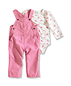 Infant/Toddler Girl�s Washed Canvas Bib Overall Set (2 Piece)