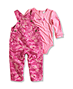 Infant/Toddler Girl?s Washed Ripstop Bib Overall Set (2 Piece)
