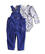 Infant/Toddler Girl�s Comfy Corduroy Bib Overall Set (2 Piece)