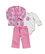 Infant/Toddler Girls' Brushed Fleece 3 Pant Piece Set